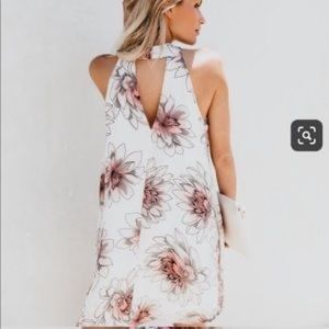Vici Dresses - VICI stencil floral dress - ivory